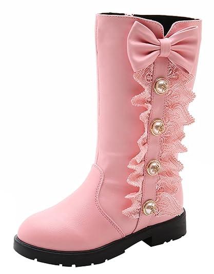 ec2a68ef7058 La Vogue Boots Bottes Enfant Fille Bottines Chaussure de Neige Velours  Hiver Chaud
