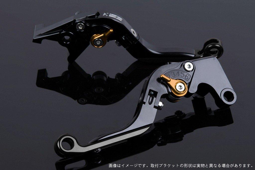 SSK アジャストレバー 可倒延長式 レバー本体カラー:ブラック アジャスターカラー:ゴールド エクステンションカラー:ブラック TUONO V4R/Factory 2011-2016 AP0407116-GDBK B07MX9QGB5