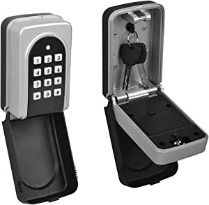 ANSLOCK Lock Box, Street Trade Portable Wall Mount Electronic Security Key Safe Holder Box, Door Key Storage Box with Code (Wall Mount)