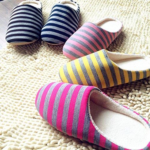 Antidérapant Cadeau Chaud Hiver Unisexe Pantoufles Chaussons Collection Maison Chaussures Leana Jaune Coton Mule Souple zwT1qw