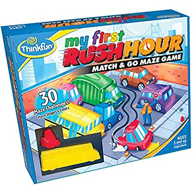 Think Fun My First Rush Hour STEM Toy and Brain Game for Boys and Girls Age 3 and Up -AMatch and Go Maze Game: Toys & Games