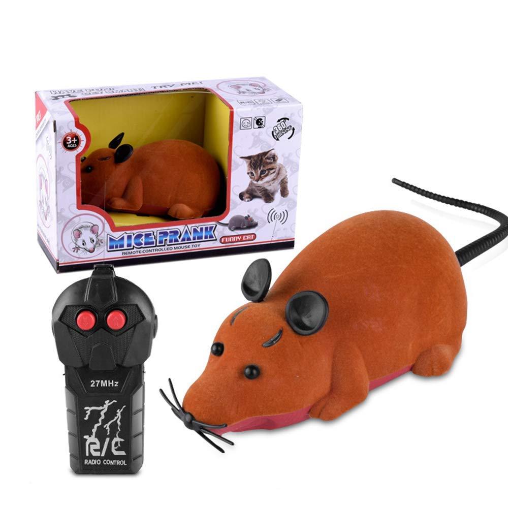 Realista RC Rata Control Remoto por Infrarrojos Rata Juguetes electrónicos Efecto de luz Broma Juguete de Miedo Miedo Creepy Suave Truco de Felpa: ...