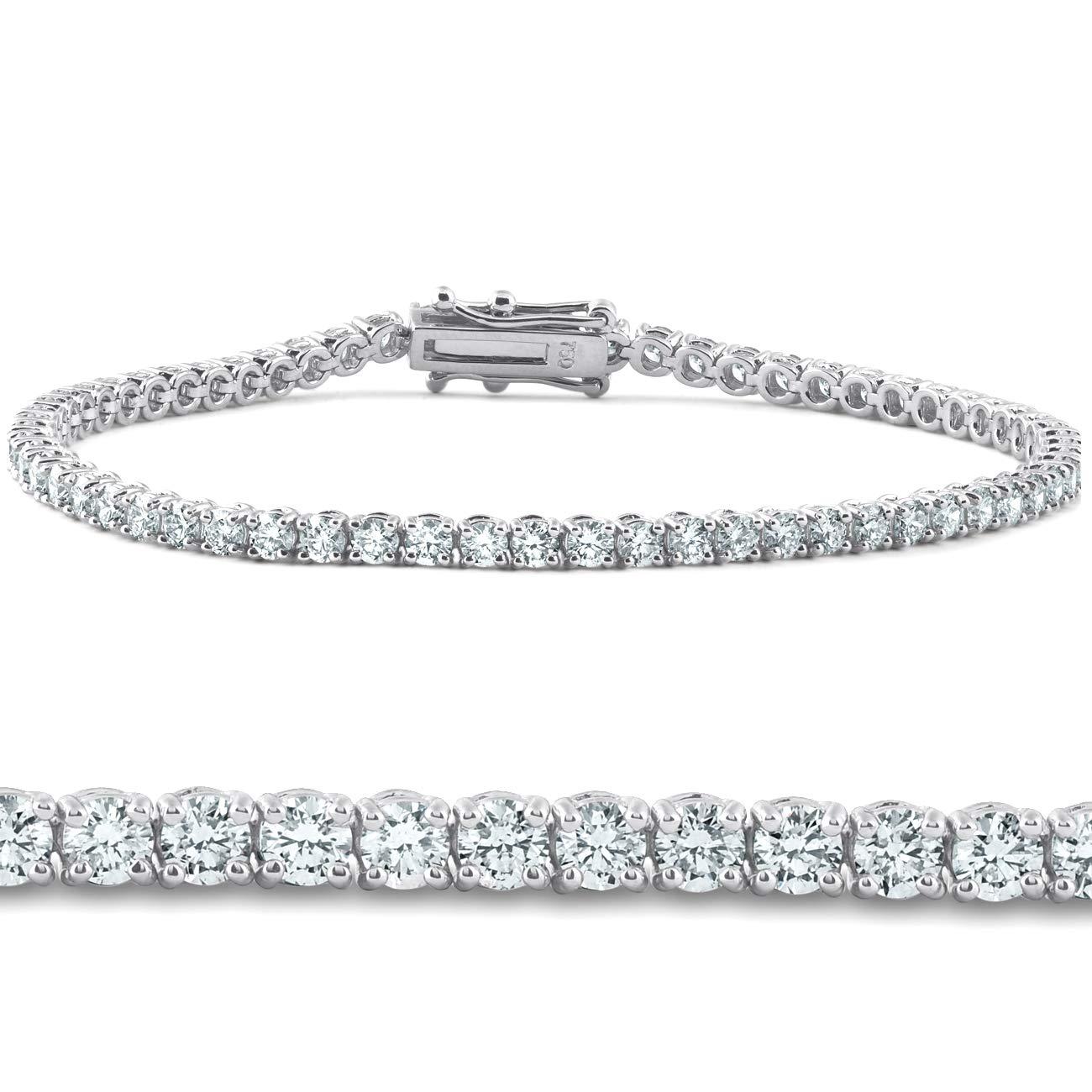4ct Diamond Tennis Bracelet 14K White Gold 7'' by P3 POMPEII3