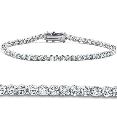 f3216a78de6 4ct Diamond Tennis Bracelet 14K White Gold 7