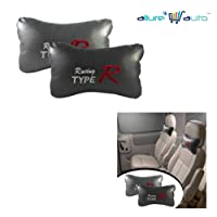 Allure Auto Type R Car SeatNeck Cushion Pillow -Grey for Mahindra Bolero ZLX BS III