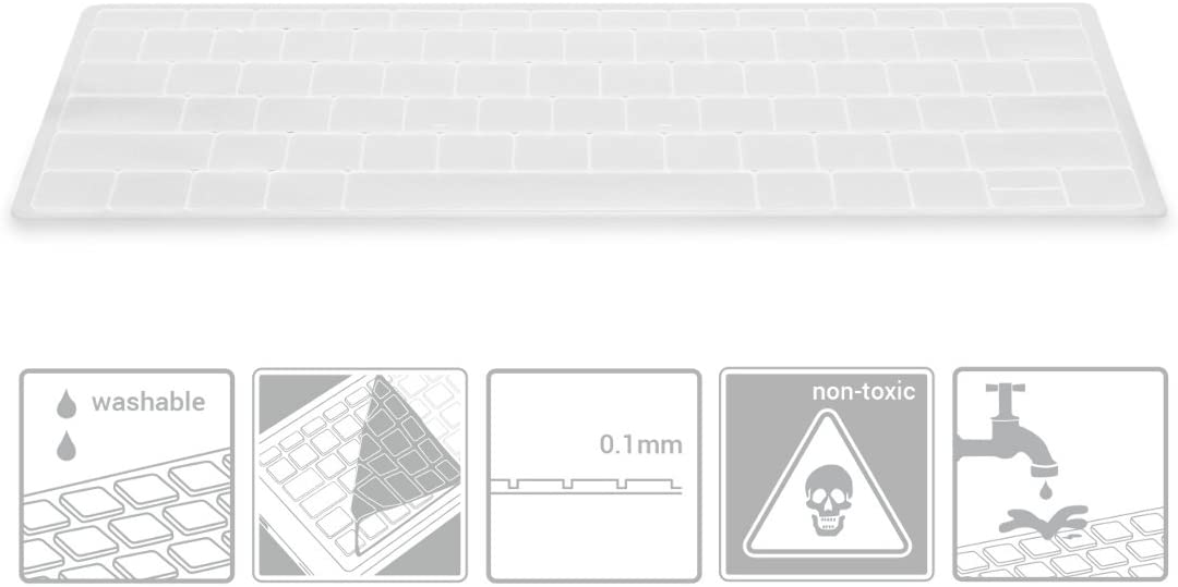kwmobile Robuster hauchd/ünner Tastaturschutz QWERTY US aus Silikon kompatibel mit Huawei MateBook