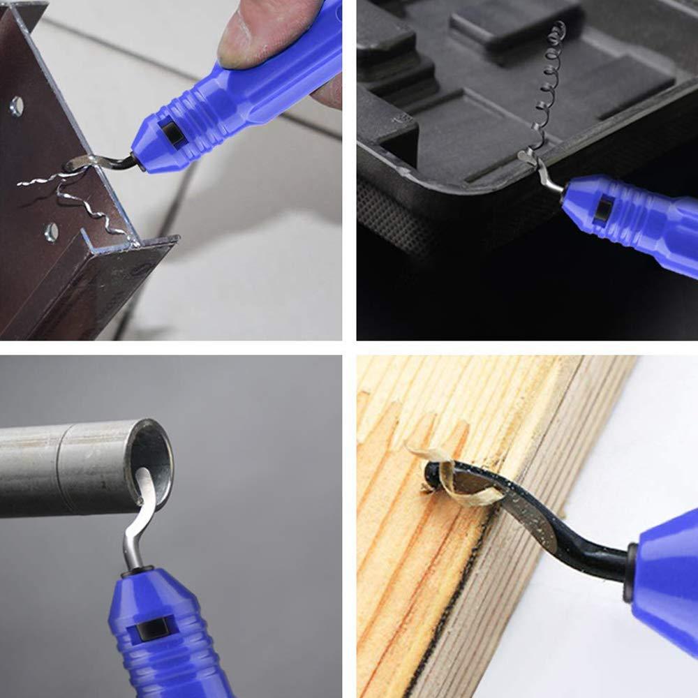 Pipe 12 Pieces Aluminum Plastic Xinlie Deburring Tool With Metal Handle Deburring Tool With a Blade and Pack of 10 Extra Blades Deburring Tool Deburring cutters Burr Remover Set For 3D Prints