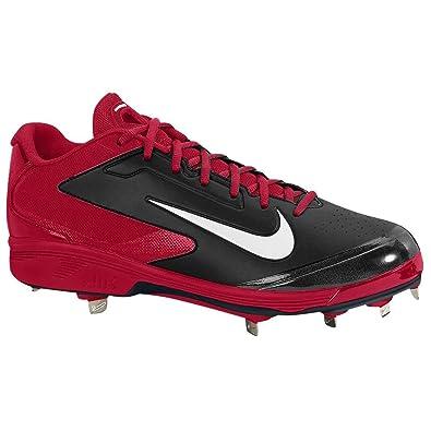 Amazon.com   Nike Mens Air huarache pro Low Metal black White varsity red  US 14 M   Baseball & Softball