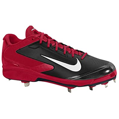 timeless design 3b14d ee138 Amazon.com   Nike Mens Air huarache pro Low Metal black White varsity red US  14 M   Baseball   Softball