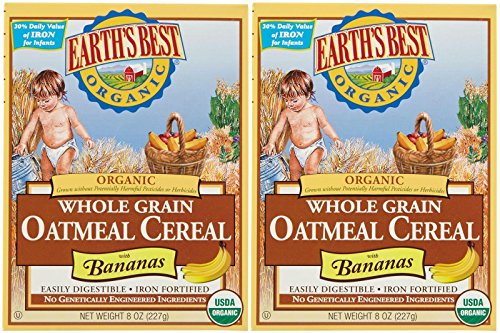 Earth's Best Baby Cereal - Oatmeal with Bananas - 8 Oz - 2 Pk
