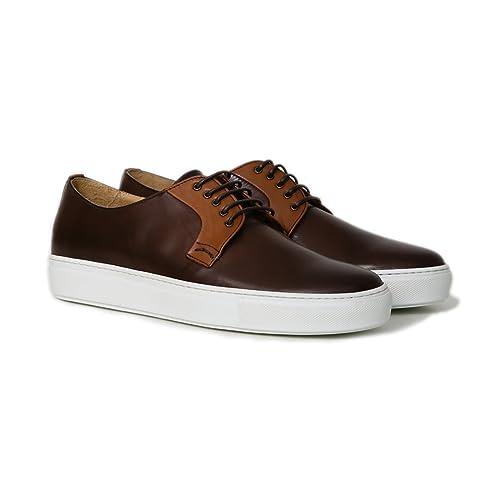Pelle Di Moro Stringata Colore Testa Sneakers In Marrone Uomo xnaIzwBE
