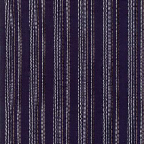 Woven Railroad Stripe - Moda Fabrics Boro Dark Indigo Woven Railroad Stripe
