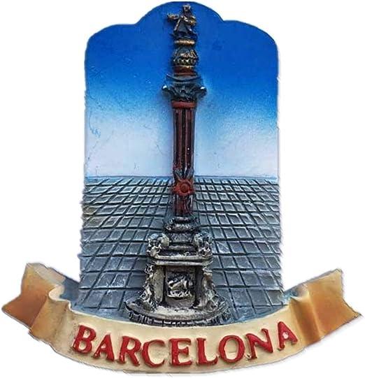 Weekinglo Souvenir Imán de Nevera Monumento a Colón Barcelona ...