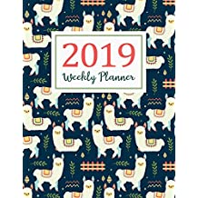 2019 Weekly Planner: Daily Weekly And Monthly Calendar Planner | January 2019 to December 2019 For To do list Planners And Academic Agenda Schedule Organizer Logbook Journal Notebook