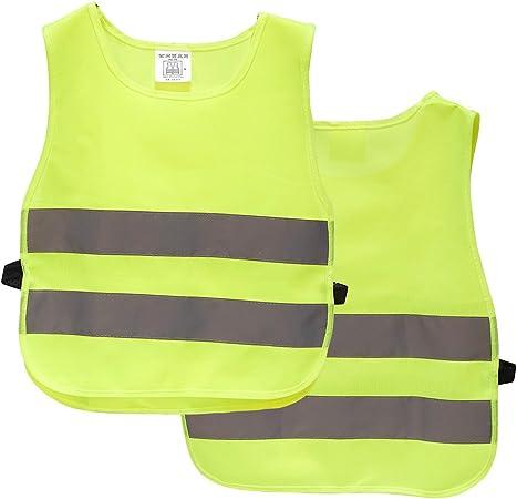 Jaune Taille XXS-XS M-Wave Le Gilet de securite reflechissant pour Enfant Accessoires Velo