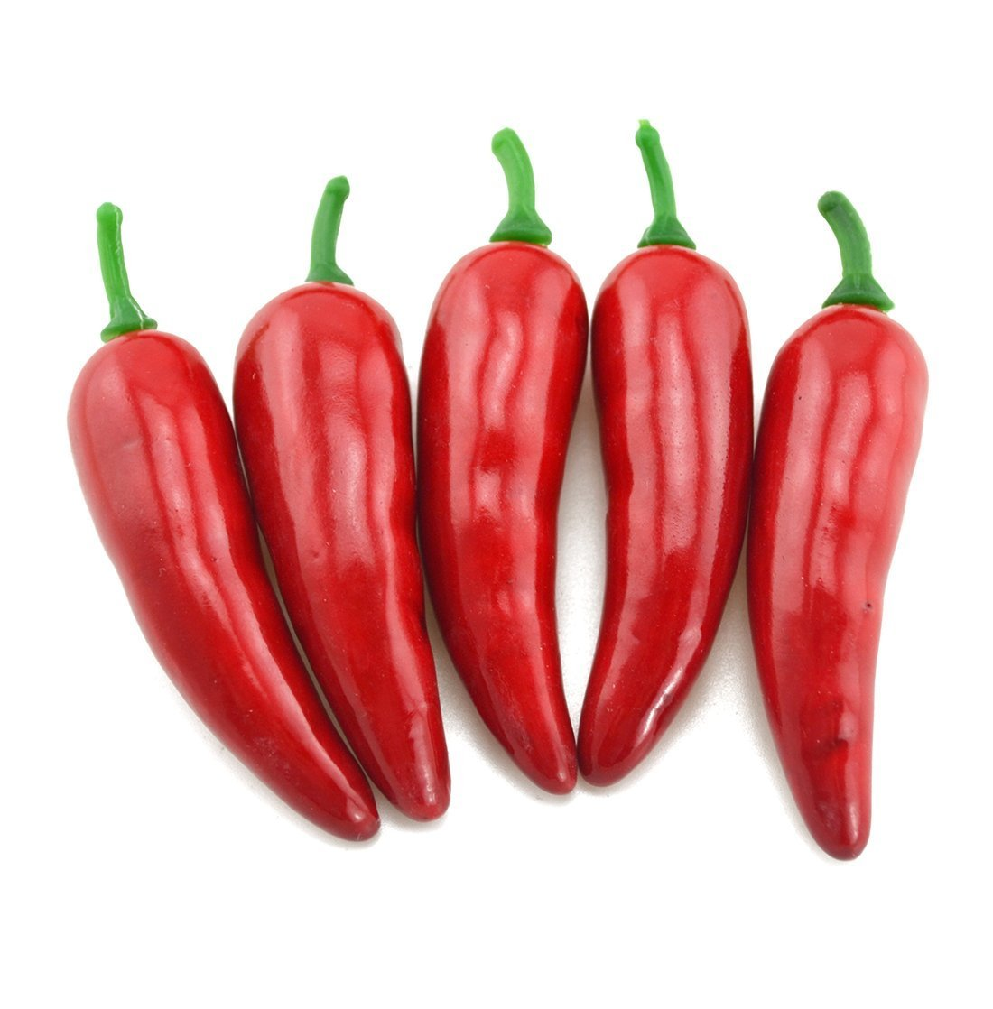 Lorigun 30Pcs Artificial Little Chili Simulation Pepper Mini Three-Colour (Red + Yellow + Green) Small Hot Pepper Lifelike Fake Vegetable Home Decor Each Color 10Pcs