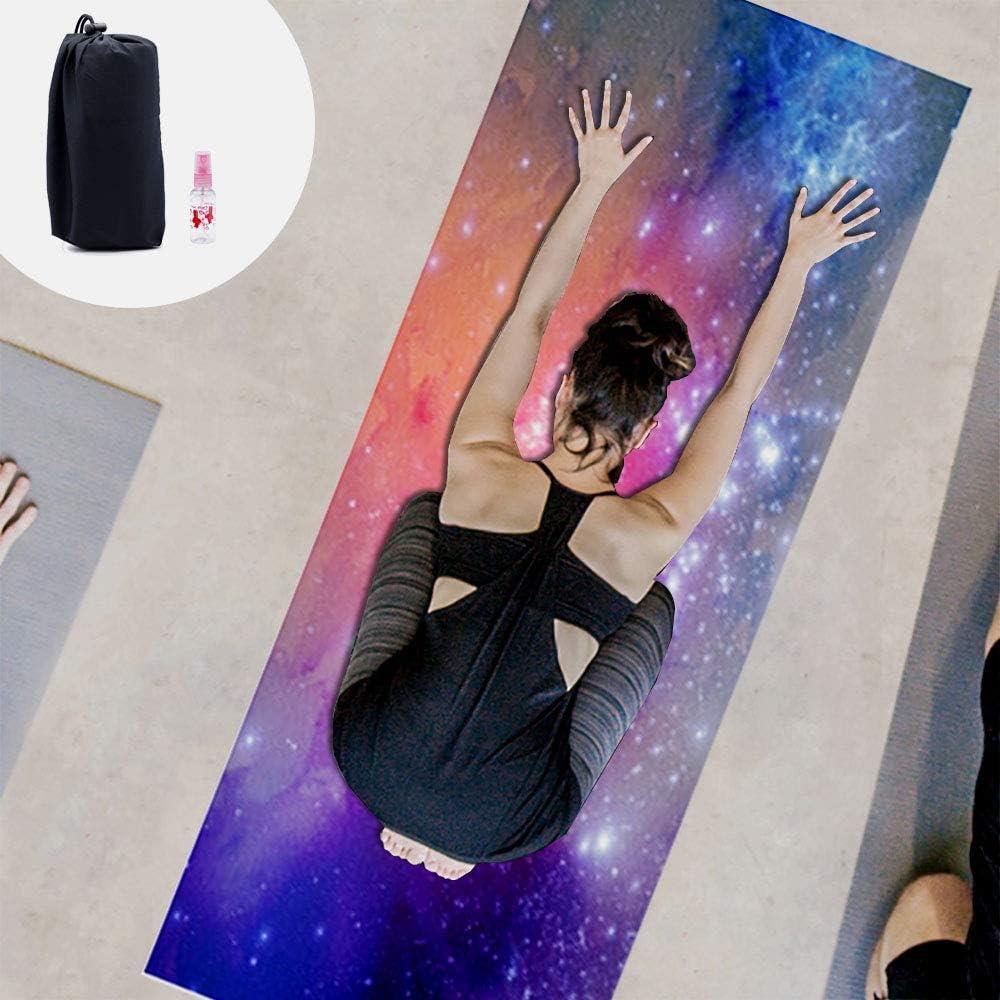 Amazon.com: Toalla de yoga con bolsillos en las esquinas ...