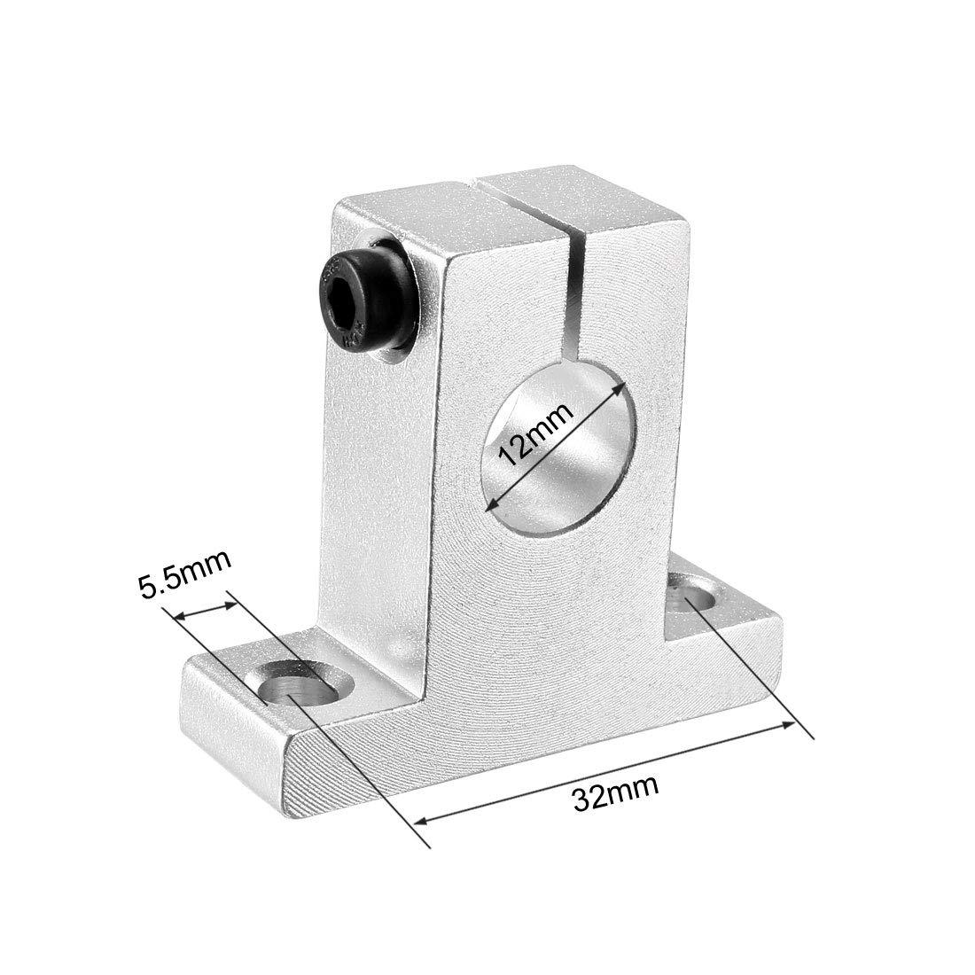 4 pezzi Sourcingmap 12mm Supporto guida lineare per binari di movimento per binari di bloccaggio