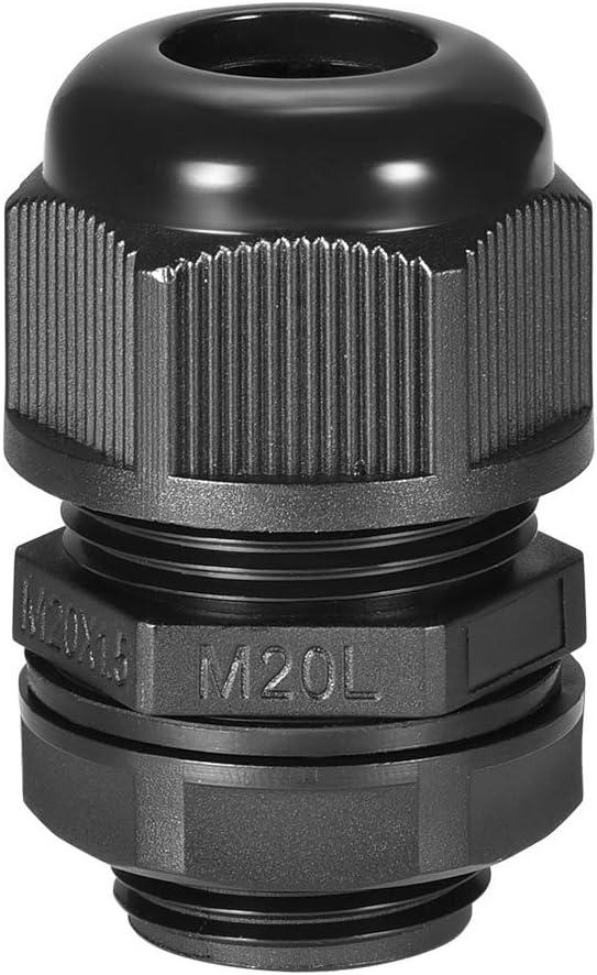 Kabelverschraubung M20 4-Loch wasserdicht IP68 Dichtung Nylon Kontermutter f/ür Draht-Durchmesser 2,4-3,4mm