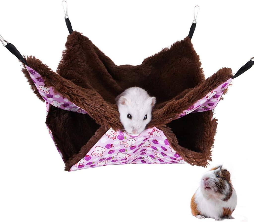 BiuBuy Cat Hammock//Ferret Rabbit Easy to Attach to a Cage Small Dogs or Other Pet Rat