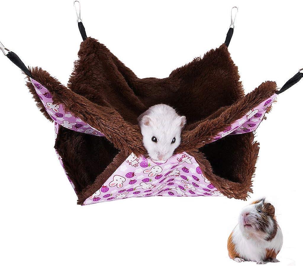 Hamaca para Az/úCar con Litera HOUMENGO Hamaca para Mascotas Hamaca para Hur/óN De H/áMster Conejo Animales Peque/ñO Dormir Nido Casa Colgante