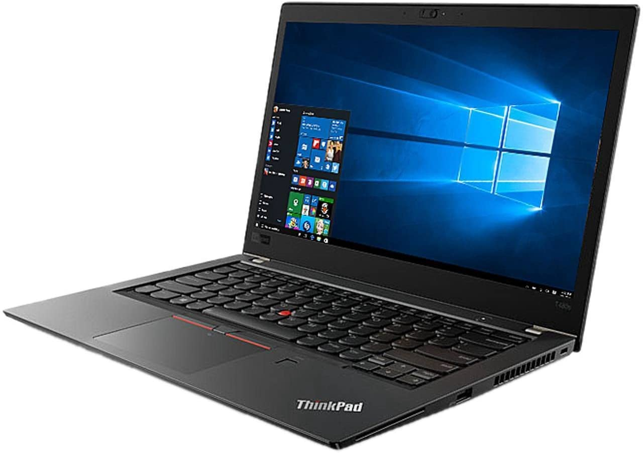 "Lenovo ThinkPad T480s Windows 10 Pro Laptop - Intel Core i7-8650U, 16GB RAM, 500GB SSD, 14"" IPS FHD (1920x1080) Matte Display, Fingerprint Reader, Black Color"