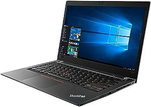 "Lenovo ThinkPad T480s Windows 10 Pro Laptop - Intel Core i7-8650U, 16GB RAM, 500GB SSD, 14"" IPS FHD (1920x1080) Matte Display, Fingerprint Reader, Black Color"