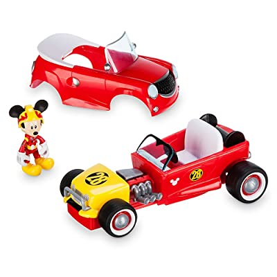 Disney Mickey Mouse Transforming Pullback Racer - Mickey The Roadster Racers: Toys & Games