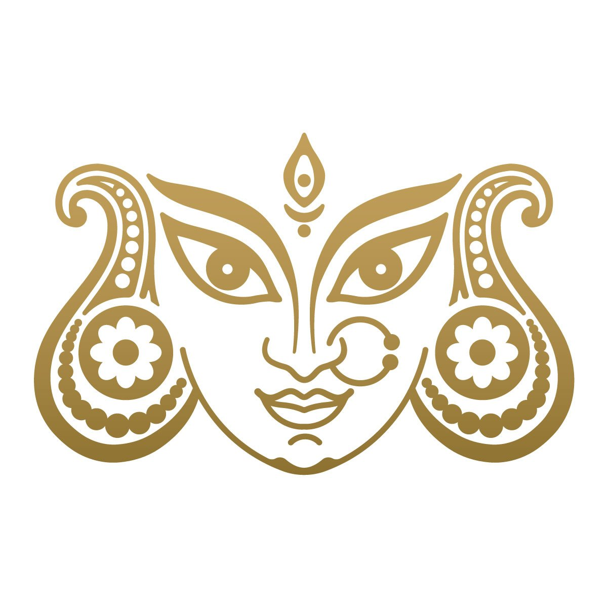 Buy walldesign car sticker design durga devi face gold colour reflective vinyl online at low prices in india amazon in