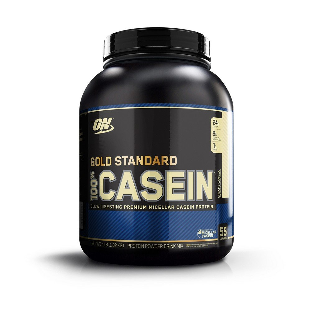 Optimum Nutrition Gold Standard 100% Micellar Casein Protein Powder, Slow Digesting, Helps Keep You Full, Overnight Muscle Recovery, Creamy Vanilla, 4 Pound