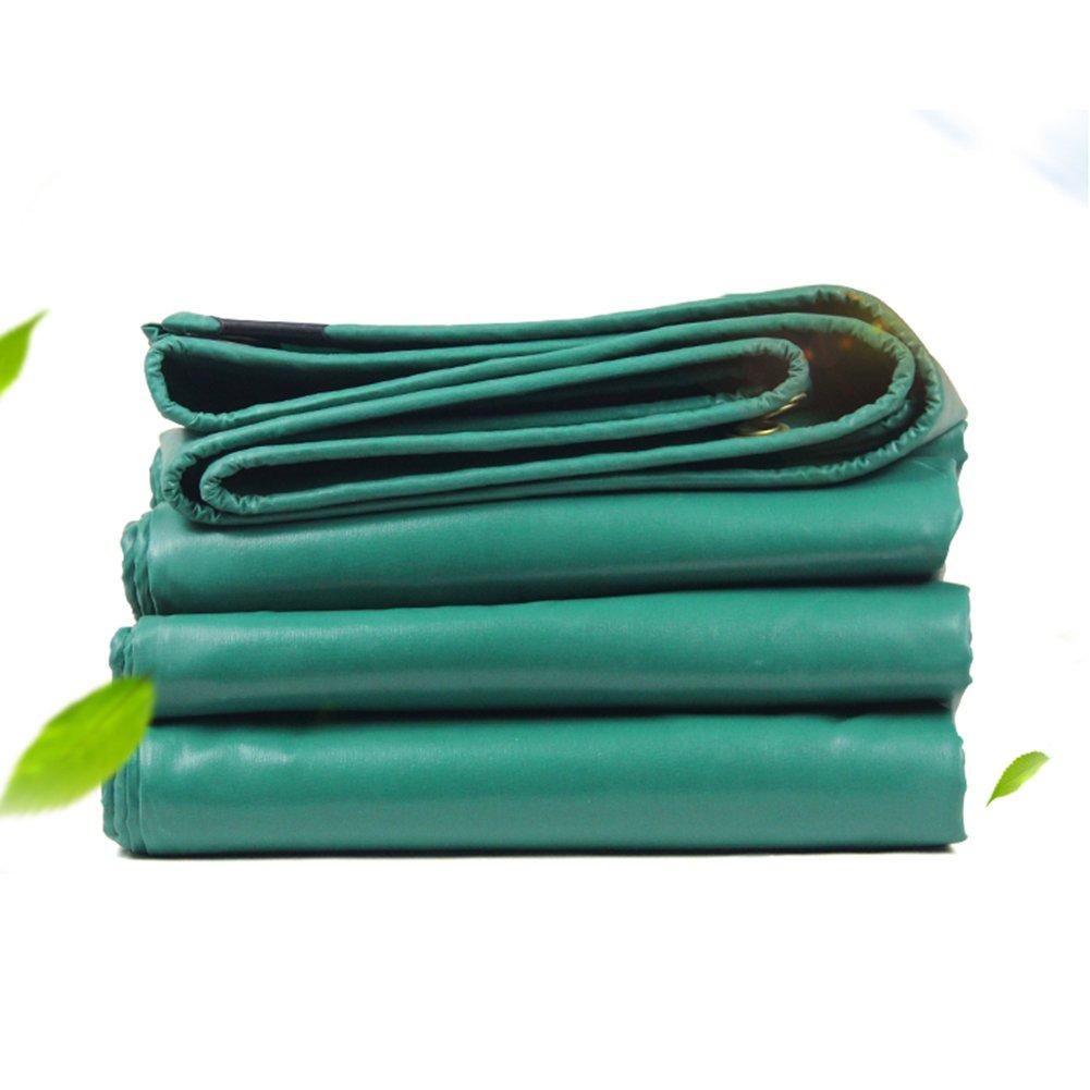 WUFENG オーニング 両面 耐寒性 キャンバス 防水 厚い 日焼け止め シェルター リノリウム 耐摩耗性、 厚さ0.35mm 450g/M2 (色 : 緑, サイズ さいず : 4x6m) B07DCRQDDY 18993 4x6m|緑 緑 4x6m