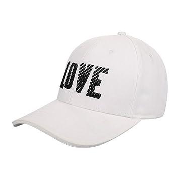 Yuan sombrero de gorra de béisbol sombrero letras unisex simple atmósfera  cap gorro de sol blanco 417a1d61e89