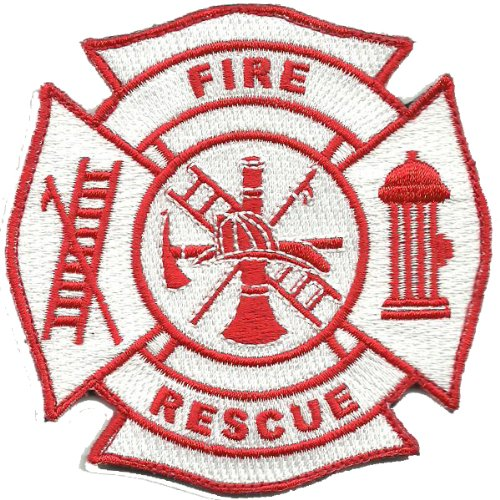 Fire & Rescue Tactical Patch - Red & White