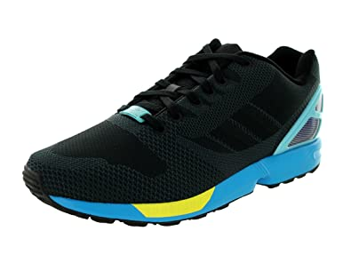 2018 shoes limited guantity great fit adidas Men's Zx Flux Weave Originals Black/Black/Aqua Running Shoe