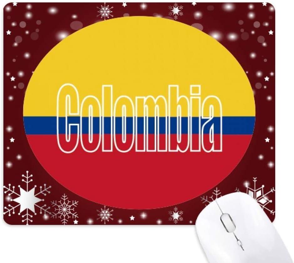 Alfombrilla de ratón con Nombre de la Bandera de Colombia con Copo ...