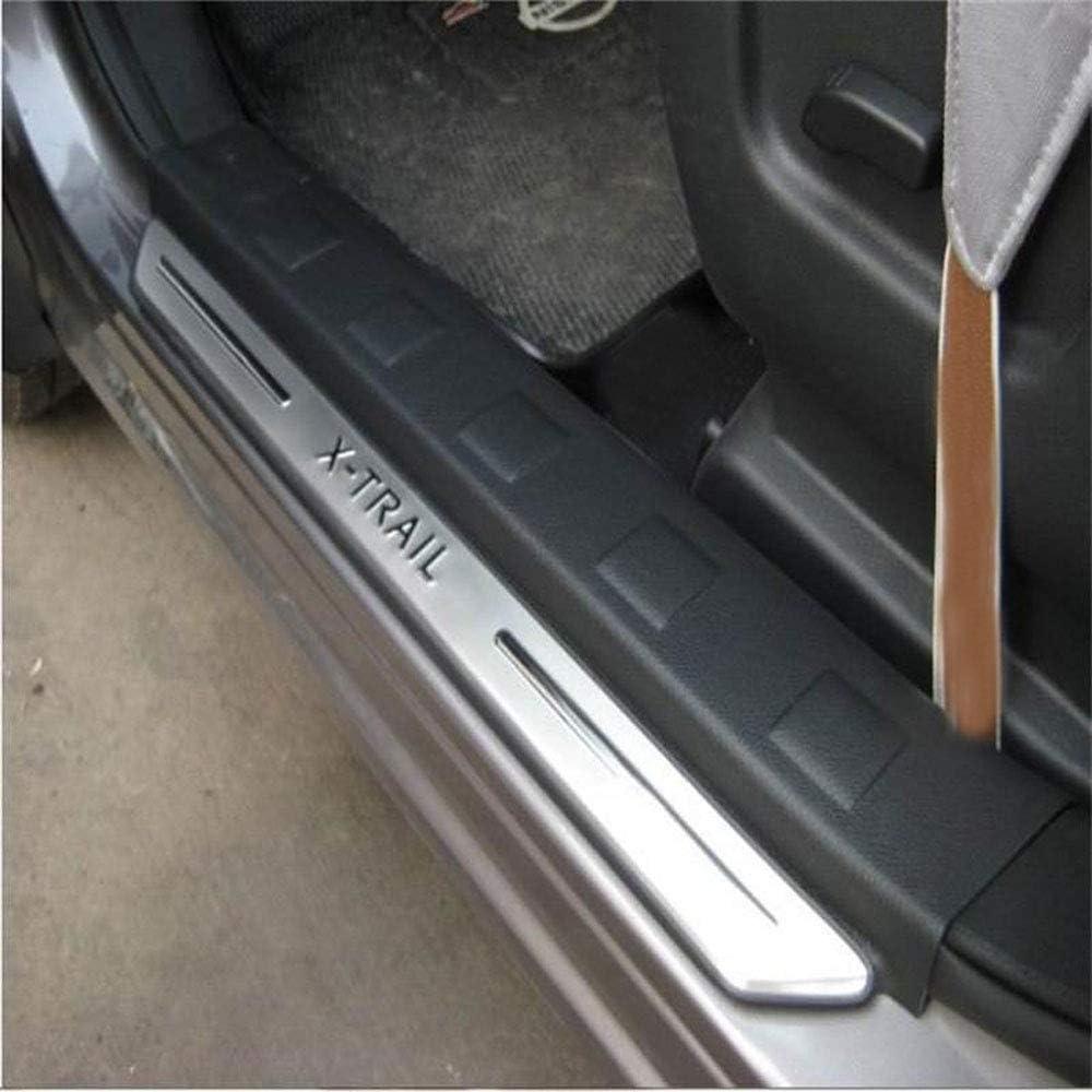 N//A 4 St/ück Autot/ürschwellenschutz f/ür Nissan X-Trail X Trail T31 2009-2013 Trim Scuff Pedal Threshold Cover Schutzplatte Ticker Zubeh/ör Edelstahl