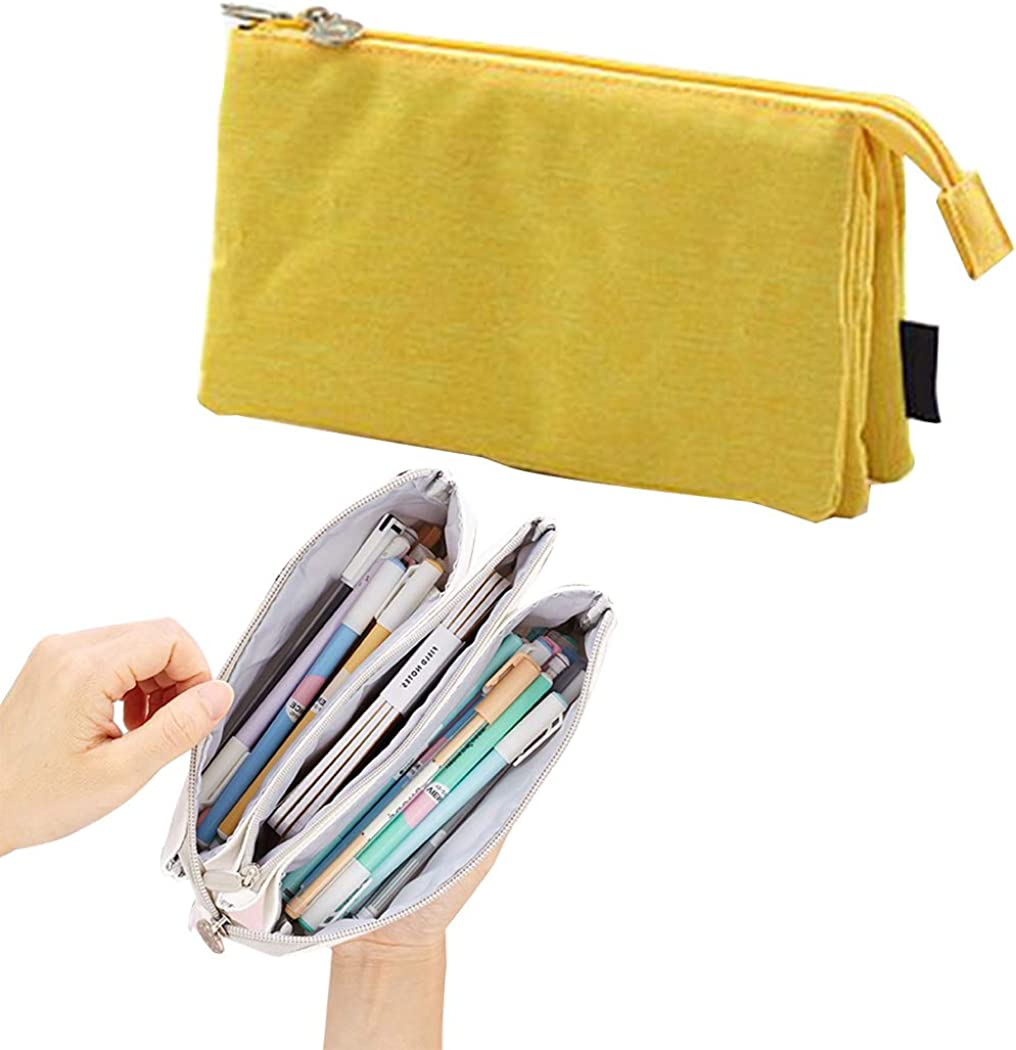COAFIT Multifunctional 5 Pockets Large Capacity Pencil Bag for Students