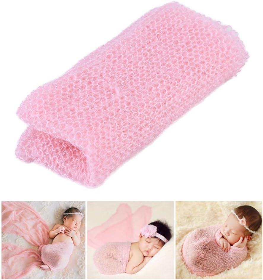 Rosa Zerodis Komfortable Neugeborenes Baby Fotografie Requisiten Leichte Stretch Infant Wraps Foto Decke DIY Swaddle Baby Shower Geschenk