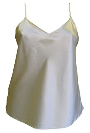 58588f83fb2778 Ladies Womens Satin Camisole top Vest cami Lingerie Plus Size 12 14 16 18  20 22 at Amazon Women s Clothing store