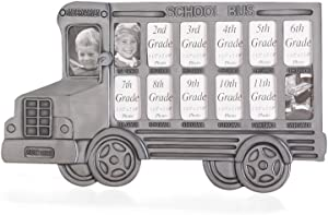 Koehler 35239 12.5 Inch Gray School Bus Photo Frame