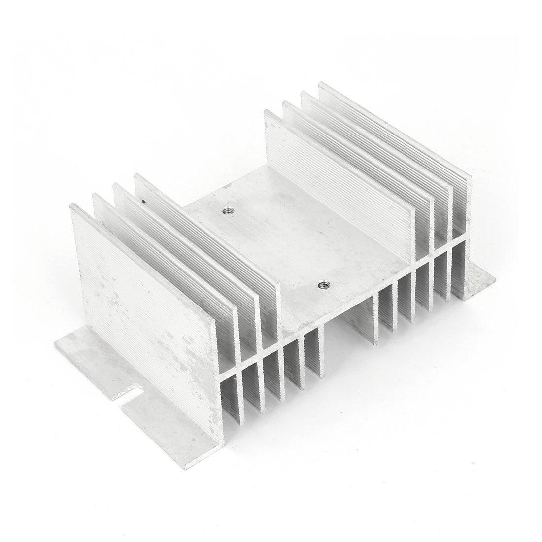 uxcell 126mm x 70mm x 50mm Aluminum Heat Solid State Relay Heatsink Cooler