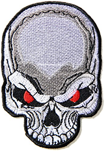 - Red Flame Eyes Skull Ghost Hog Outlaw Logo Lady Biker Rider Punk Rock Tatoo Jacket T-shirt Patch Sew Iron on Embroidered Sign Badge Costume