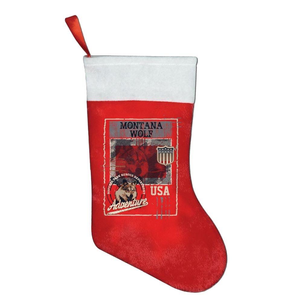 Amazon.com: Montana Wolf Personalized White Christmas Stockings ...