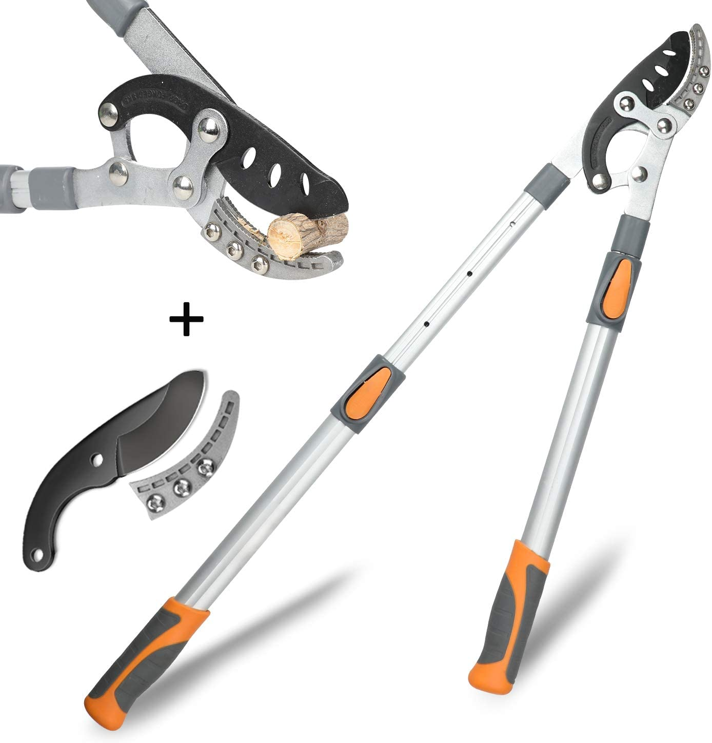 AIRAJ Bypass Lopper with Compound Action, Chops Thick Branches with Ease, Adjustable Heavy Duty Tree Trimmer, Branch Cutter with Clean Cut Capacity