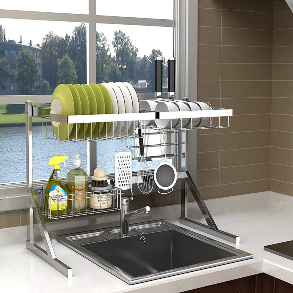 Stainless Steel Kitchen Rack, Tableware Storage Rack Drain Rack, Suitable for Kitchen Hotel Restaurant School (64cm/84cm) by Kitchen shelf