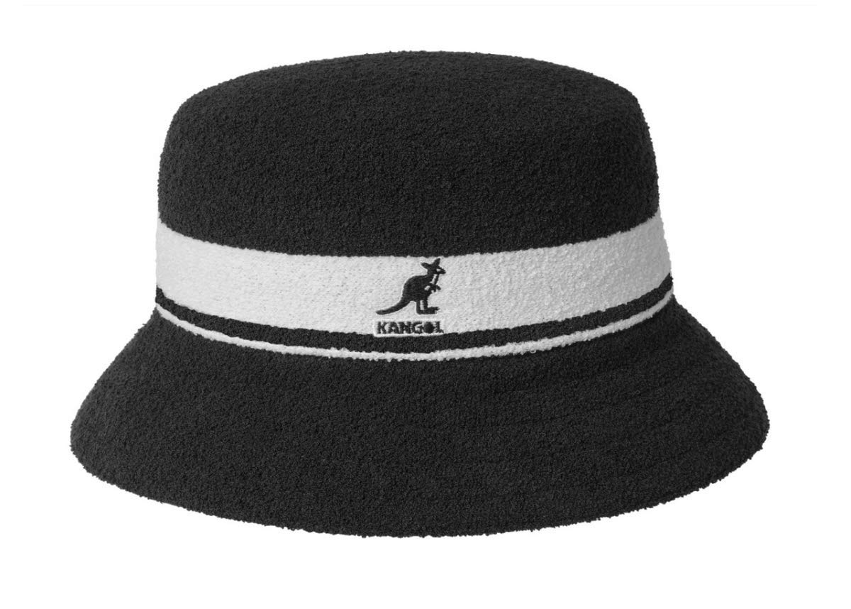 Kangol Unisex Bermuda Stripe Bucket Black XL (7 1/2-7 5/8)