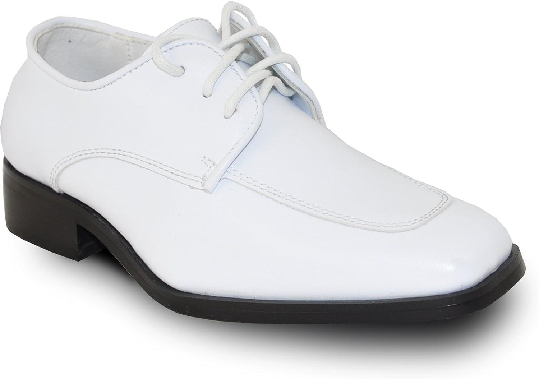 Uniform VANGELO Boy Kid Formal Tuxedo Dress Shoe for Wedding Prom and Formal Events
