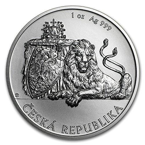 2018 CZ Niue 1 oz Silver Czech Lion BU 1 OZ Brilliant Uncirculated