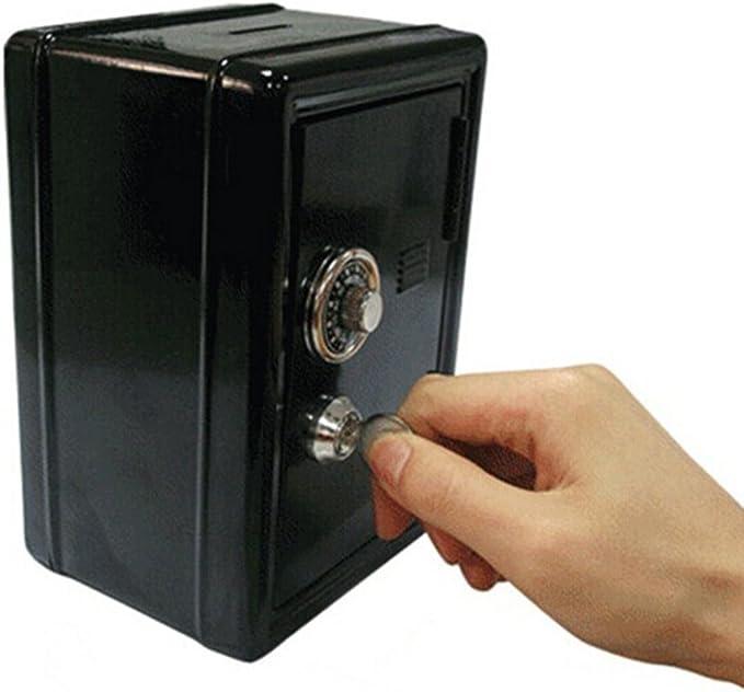 LEORX Hucha Caja-fuerte de metal con rueda de combinación: Amazon ...