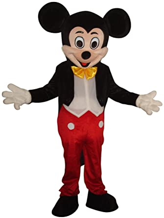 Amazon.com: New Mickey Mouse Mascot Costume Adult Size Halloween ...
